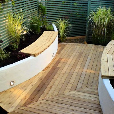 A Sailor's Home port - a garden with interesting decking